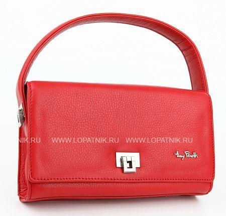 Сумка женская кожаная TONY PEROTTI 560140/4Женские сумки<br>Женская сумка из натуральной высококачественной кожи. Модель имеет автономную секцию на молнии,оригинальная застежка, длина ручек 10 см, ремень для ношения на плече.<br>Материал: Натуральная кожа; Цвет: Красный; Пол: Женский; Артикул: 560140/4;