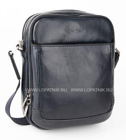 Сумка на плечевом ремне TONY PEROTTI 303426/6Мужские сумки<br>Мужская сумка на плечевом ремне из натуральной кожи. С внешней стороны имеется автономный карман, два центральных отдела со множеством кармашков для визиток, блокнота и ручек, с тыльной стороны вертикальный кармашек на молнии.<br>Материал: Натуральная кожа; Цвет: Синий; Пол: Мужской; Артикул: 303426/6;