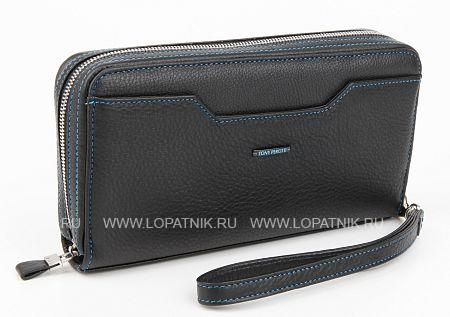 Купить Кошелек-клатч кожаный мужской TONY PEROTTI 923119/1, Черный, Натуральная кожа