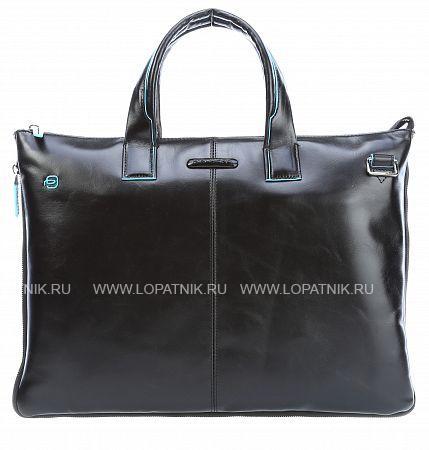 Купить Сумка для ноутбука кожаная мужская PIQUADRO CA4021B2/N, Черный, Натуральная кожа