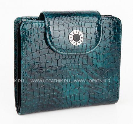 Купить Женское кожаное портмоне PETEK 346.091.09, Синий, Зеленый, Черный, Натуральная кожа