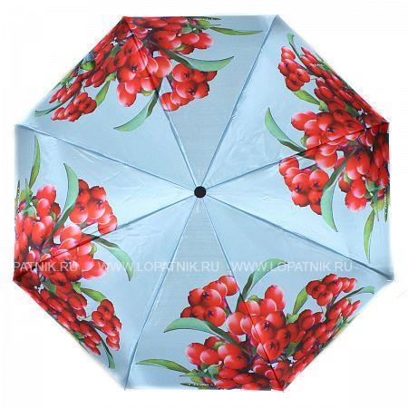 Купить Зонт складной женский FLIORAJ 190210 FJ, Голубой, Красный, Разноцветный, Полиэстер (тканевый)