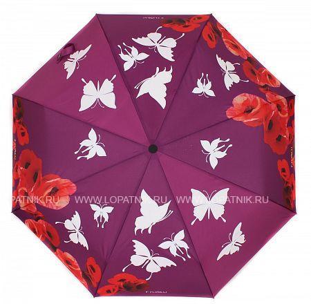Купить Зонт складной женский FLIORAJ 210204 FJ, Белый, Красный, Розовый, Полиэстер (тканевый)