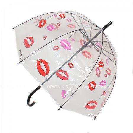 Купить Зонт-трость женский FLIORAJ 121204 FJ, Белый, Красный, Розовый, Прозрачный, ПВХ