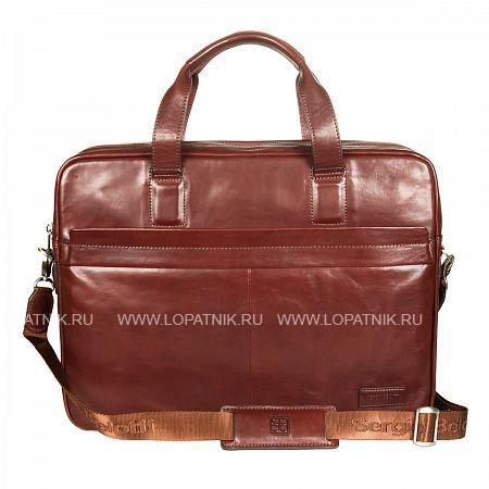 Мужская кожаная бизнес-сумка SERGIO BELOTTI 9954 VEGETALE BROWNМужские сумки<br>Материал: натуральная кожа<br>Цвет: коричневый<br>Высота ручек (см): 14<br>Размеры (см): 39 x 11 x 30<br>Производитель: Sergio Belotti, Selle`s Pelletterie S.R.L. Италия<br>Описание:<br>- состоит из двух отделов, оба закрываются на молнию<br>- внутри первого отдела<br>- четыре кармашка для мелких предметов<br>- два держателя для авторучки<br>- четыре кармашка для пластиковых карт<br>- карман для мобильного телефона<br>- второй отдел состоит из двух отсеков<br>- которые разделены карманом на молнии<br>- на задней стенке карман на молнии<br>- снаружи на передней и задней стенках карман на молнии <br>- оснащена съемным регулируемым плечевым ремнем<br>Материал: Натуральная кожа; Цвет: Коричневый; Пол: Мужской; Артикул: 9954 VEGETALE brown;