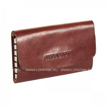 Ключница кожаная мужская SERGIO BELOTTI 3524 IRIDO BROWNКлючницы<br>Материал: натуральная кожа<br>Размеры (см): 10.5 x 2 x 6.5<br>Производитель: Sergio Belotti, Selle`s Pelletterie S.R.L. Италия<br>Описание:<br>- закрывается клапаном на кнопке<br>- внутри шесть карабинов для ключей<br>Материал: Натуральная кожа; Цвет: Коричневый; Пол: Мужской; Артикул: 3524 IRIDO brown;