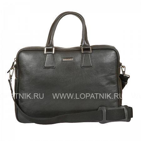 Бизнес-сумка кожаная мужская GIANNI CONTI 1601262 BLACKМужские сумки<br>Материал: натуральная кожа<br>Цвет: черный<br>Высота ручек (см): 16<br>Размеры (см): 42 x 11 x 31<br>Производитель: Gianni Conti Elda Trade S.R.L., Италия<br>Описание:<br>- закрывается на молнию<br>- внутри большой отдел, в котором<br>- карман на молнии, два кармашка для мелких предметов<br>- держатель для авторучки<br>- отделение для ноутбука закрывается клапаном на липучке<br>- снаружи на задней стенке карман на молнии с воможностью крепления к ручке чемодана<br>- отделение для личной информации на кнопке<br>Материал: Натуральная кожа; Цвет: Черный; Пол: Мужской; Артикул: 1601262 black;