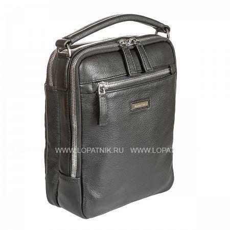 Сумка кожаная мужская GIANNI CONTI 1602192 BLACKМужские сумки<br>Материал: натуральная кожа<br>Цвет: черный<br>Высота ручек (см): 6<br>Размеры (см): 22 x 8 x 27<br>Производитель: Gianni Conti Elda Trade S.R.L., Италия<br>Описание:<br>- состоит из двух отделов<br>- один закрывается на молнию<br>- второй на двустороннюю молнию<br>- внутри карман на молнии<br>- кармашек для мелких предметов<br>- держатель для авторучки<br>- снаружи на передней стенке карман на молнии<br>- на задней стенке карман на молнии<br>- отделение для личной инфомации закрывается на кнопку<br>- оснащен съемным регулируемым плечевым ремнем на карабинах<br>Материал: Натуральная кожа; Цвет: Черный; Пол: Мужской; Артикул: 1602192 black;