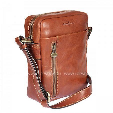 Купить Сумка на плечевом ремне GIANNI CONTI 912534 TAN, Коричневый, Натуральная кожа