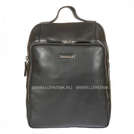 Купить Кожаный мужской рюкзак GIANNI CONTI 1602195 BLACK, Черный, Натуральная кожа