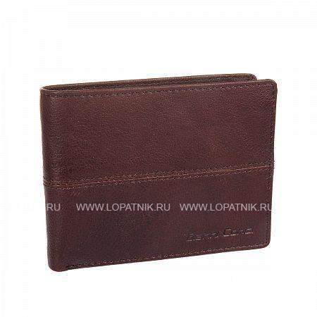 Портмоне кожаное мужское GIANNI CONTI 1137144E DARK BROWNПортмоне и кошельки<br>Материал: натуральная кожа<br>Размеры (см): 12.5 x 3 x 10<br>Производитель: Gianni Conti Elda Trade S.R.L., Италия<br>Описание:<br>- раскладывается пополам<br>- внутри два отдела для купюр<br>- карман для мелочи<br>- закрывается клапаном на кнопке<br>- сетчатый карман<br>- восемь кармашков для пластиковых карт<br>- потайной карман<br>Материал: Натуральная кожа; Цвет: Коричневый; Пол: Мужской; Артикул: 1137144E dark brown;