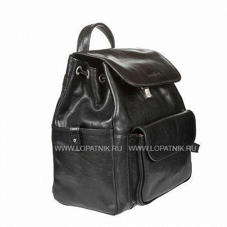 Купить Рюкзак кожаный женский GIANNI CONTI 913159 BLACK, Черный, Натуральная кожа
