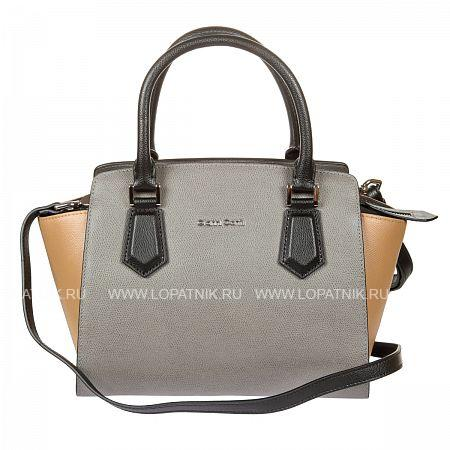 Купить Женская кожаная сумка GIANNI CONTI 2153202 GREY-LEATHER, Коричневый, Серый, Натуральная кожа