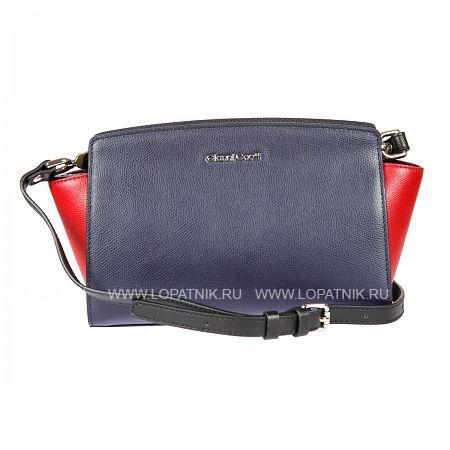Женская кожаная сумка GIANNI CONTI 2153229 BLUE-REDЖенские сумки<br>Материал: натуральная кожа<br>Высота ручек (см): 65<br>Размеры (см): 25.5 x 8 x 16<br>Производитель: Gianni Conti Elda Trade S.R.L., Италия<br>Описание:<br>- закрывается на молнию<br>- внутри отдел, в котором<br>- карман на молнии<br>- карман для мелких предметов<br>- оснащена съемным регулируемым плечевым ремнем на карабинах<br>Материал: Натуральная кожа; Цвет: Синий, Красный; Пол: Женский; Артикул: 2153229 blue-red;