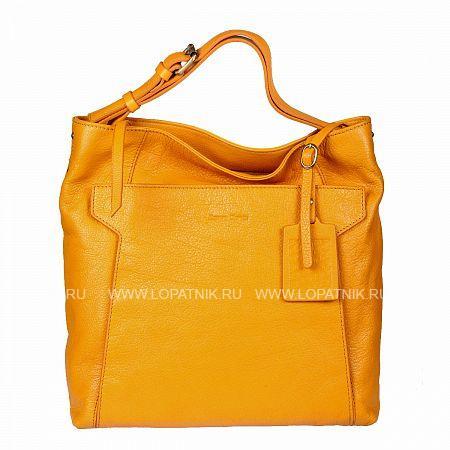Женская кожаная сумка GIANNI CONTI 783526 YELLOWЖенские сумки<br>Материал: натуральная кожа<br>Цвет: желтый<br>Высота ручек (см): 10<br>Размеры (см): 30 x 13 x 33<br>Производитель: Gianni Conti Elda Trade S.R.L., Италия<br>Описание:<br>- закрывается на молнию<br>- внутри два отдела<br>- между ними карман на молнии<br>- в которых карман на молнии<br>- два кармашка для мелких предметов<br>- держатель для авторучки<br>- оснащена съемным регулируемым плечевым ремнем на карабинах<br>- снаружи на передней стенке карман на двух кнопках<br>- на задней стенке карман на молнии<br>Материал: Натуральная кожа; Цвет: Желтый; Пол: Женский; Артикул: 783526 yellow;