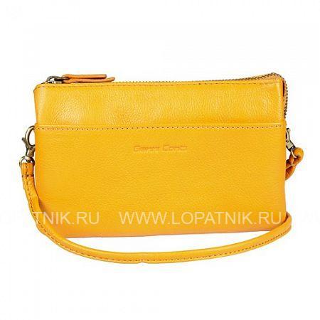 Женская кожаная сумка GIANNI CONTI 785522 YELLOWЖенские сумки<br>Материал: натуральная кожа<br>Производитель: Gianni Conti Elda Trade S.R.L., Италия<br>Описание:<br>- закрывается на молнию<br>- внутри три отдела, один из которых закрывается на молнию<br>- карман на молнии, карман для мелких предметов <br>- два потайных кармана, шесть карманов для пластиковых карточек<br>- снаружи на передней стенке карман<br>- оснащена съемным плечевым ремнем на карабинах<br>Материал: Натуральная кожа; Цвет: Желтый; Пол: Женский; Артикул: 785522 yellow;