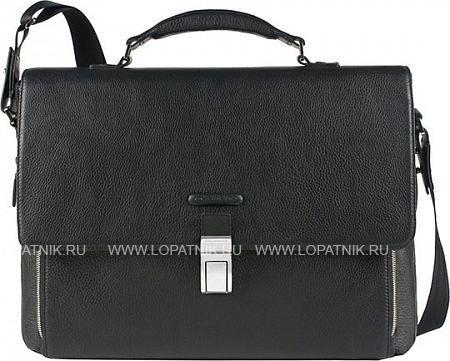 Купить Кожаный мужской портфель PIQUADRO CA3111MO/N, Черный, Натуральная кожа