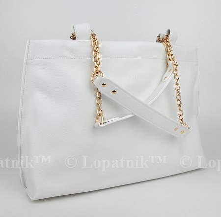 59a408a2f209 17) Женская кожаная сумка белая VELES S15710.199.00