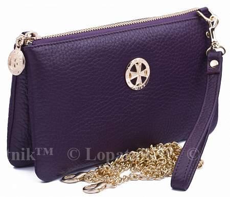 Купить Женский кожаный клатч VASHERON 9240-N.POLO GRAPE, Фиолетовый, Натуральная кожа