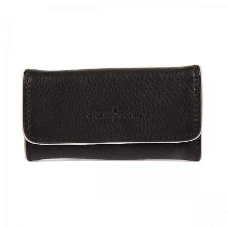 Купить Ключница GIANNI CONTI 1759069 BLACK GREY, Черный, Натуральная кожа