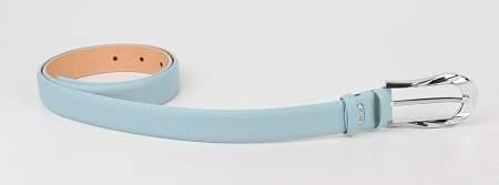 Купить Женский кожаный ремень PETEK 02504601.046.101, Голубой, Натуральная кожа