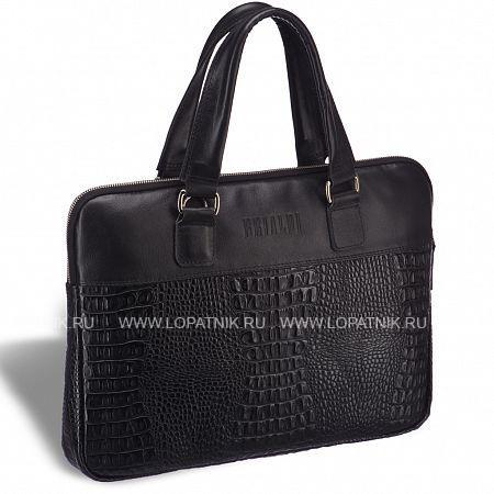 Женская деловая сумка SLIM-формата BRIALDI Belvi (Бельви) croco black BRIALDI-17810