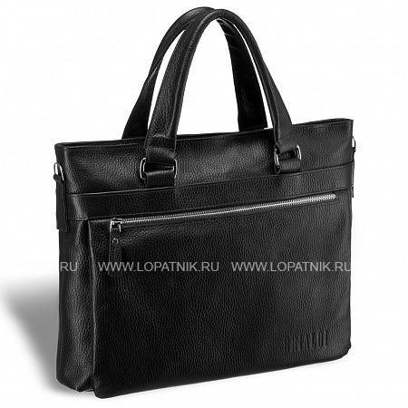 Легкая деловая сумка для документов BRIALDI Bosco (Боско) relief black BRIALDI-17816