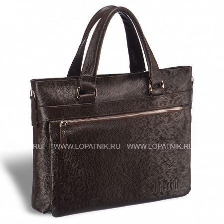 Легкая деловая сумка для документов BRIALDI Bosco (Боско) relief brown BRIALDI-17817