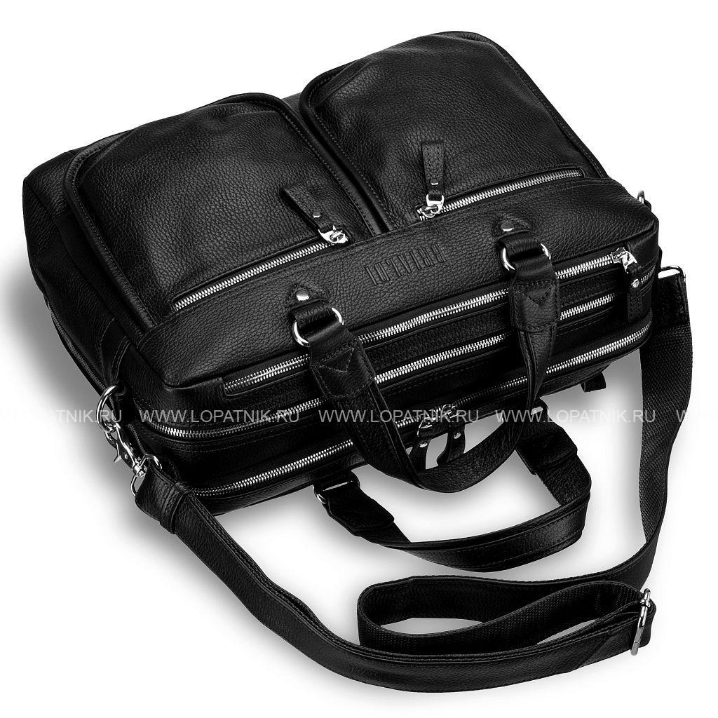 a081efb8e532 Мужская деловая сумка с двумя отделениями BRIALDI Arce (Арчи) relief black