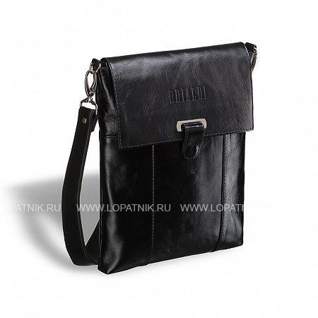 Кожаная сумка через плечо BRIALDI Toronto (Торонто) shiny black BRIALDI BRIALDI-7249