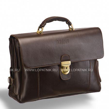 Объемный деловой портфель с 3-мя отделениями BRIALDI Bolivar (Боливар) brown BRIALDI-9529