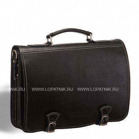 Стильный портфель с откидным верхом и магнитными замками BRIALDI Edison (Эдисон) black BRIALDI-9538