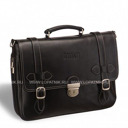 Функциональный мужской портфель BRIALDI Mendel (Мендель) black BRIALDI-9550