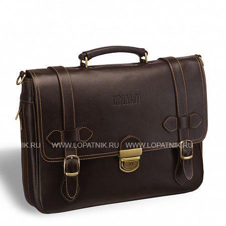 Функциональный мужской портфель BRIALDI Mendel (Мендель) brown BRIALDI-9551