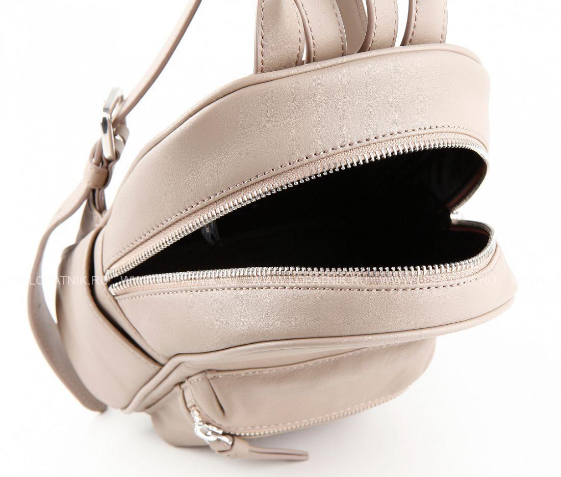 b941e1100d64 Кожаный рюкзак DKNY 461010508 beige, Бежевый цена 46 800 руб ...