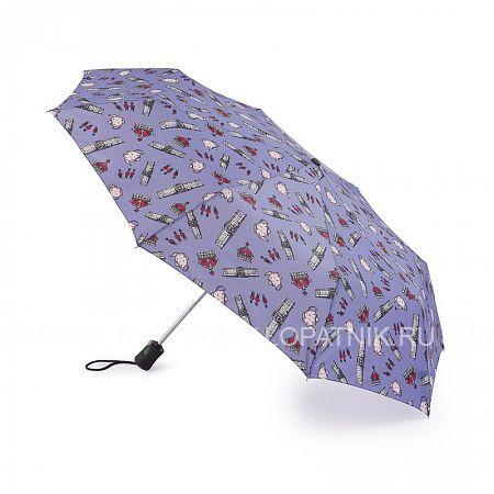 Купить Зонт складной женский FULTON J346-3360, Синий, Полиэстер (тканевый)