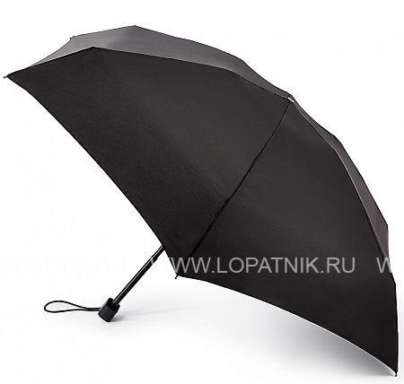 Купить Зонт складной мужской FULTON G843-01 BLACK, Черный, Полиэстер (тканевый)