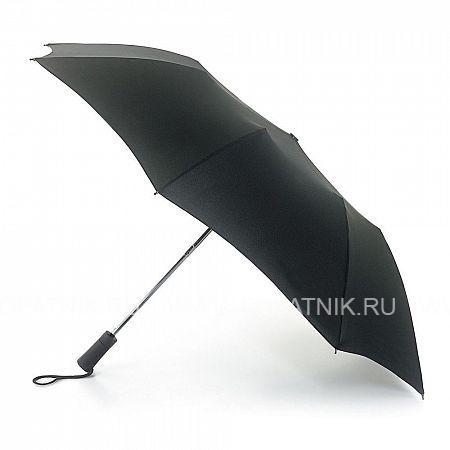 Купить Зонт складной мужской FULTON U801-01 BLACK, Черный, Полиэстер (тканевый)