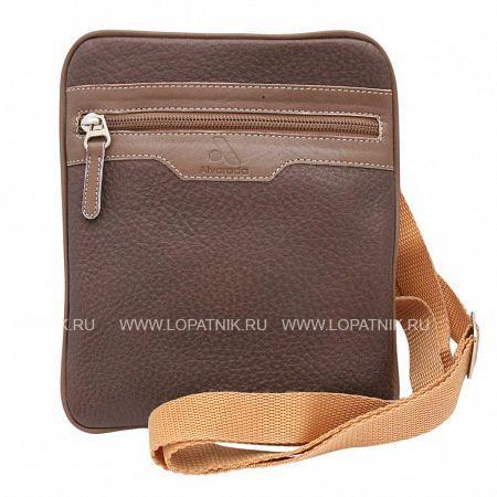 Купить Сумка вертикальная с плечевым ремнем ALVORADA 5001 BROWN, Коричневый, Натуральная кожа