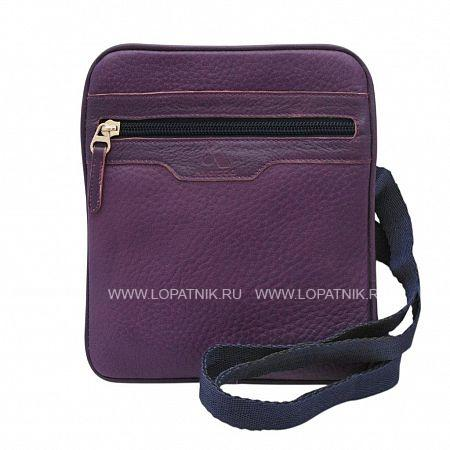 Купить Сумка вертикальная с плечевым ремнем ALVORADA 5001 VIOLET, Фиолетовый, Натуральная кожа
