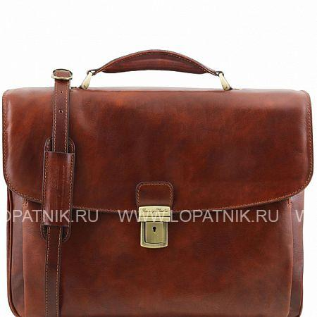 Купить Портфель со съемным плечевым ремнем TUSCANY TL141448-2, Коричневый, Натуральная кожа