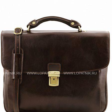 Купить Портфель со съемным плечевым ремнем TUSCANY TL141448-02, Коричневый, Натуральная кожа