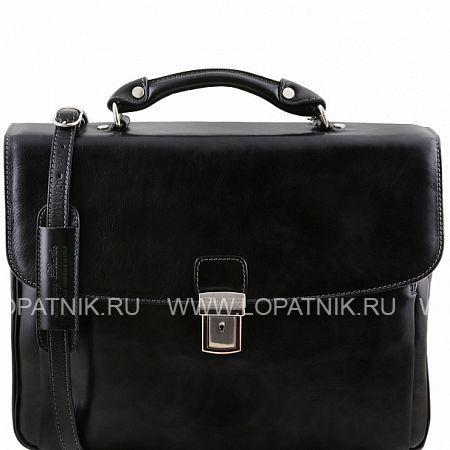 Купить Портфель со съемным плечевым ремнем TUSCANY TL141448-1, Черный, Натуральная кожа