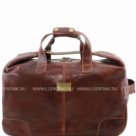 Купить Кожаная дорожная сумка на колесах TUSCANY TL141537-2, Коричневый, Натуральная кожа