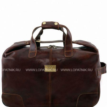 Купить Кожаная дорожная сумка на колесах TUSCANY TL141537-02, Коричневый, Натуральная кожа