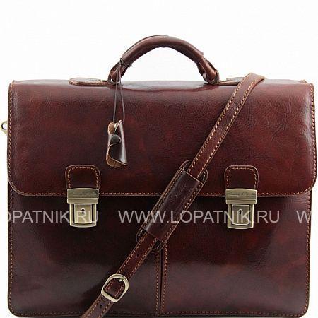 Купить Портфель со съемным плечевым ремнем TUSCANY TL141144-2, Коричневый, Натуральная кожа
