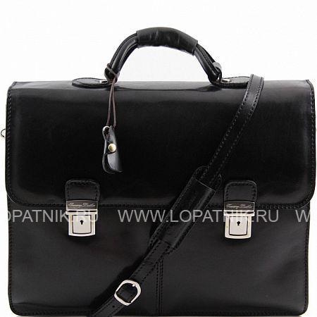 Купить Портфель со съемным плечевым ремнем TUSCANY TL141144-1, Черный, Натуральная кожа