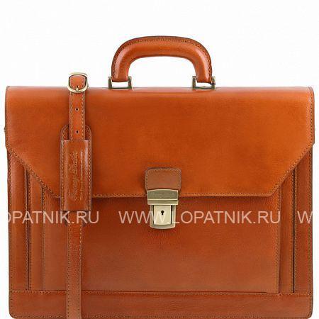 Купить Портфель мужской кожаный TUSCANY TL141348-4, Оранжевый, Натуральная кожа