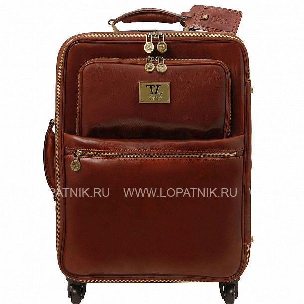 7f75ead48996 Дорожная кожаная сумка на колесах Tuscany TL141390-2, Коричневый ...