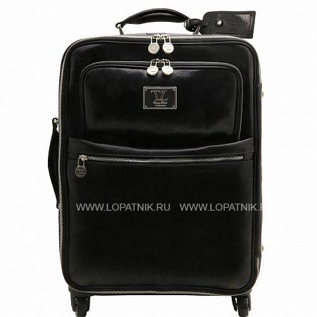 Дорожная кожаная сумка на колесах TUSCANY TL141390-1, Черный, Натуральная кожа  - купить со скидкой